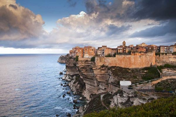 Bonifacio town on the cliffs
