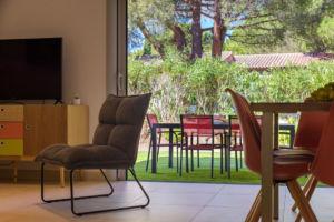 vue jardin résidence vacances porto-vecchio