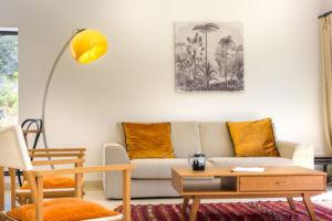 Salon moderne location villa Palombaggia