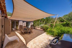 Terrasse privée location villa Palombaggia